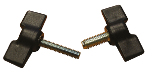 Wing screws with threaded pin