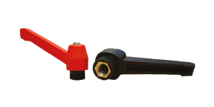 Retractable handles with threaded bushing