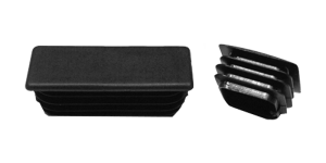 Low profile square and rectangular finned caps