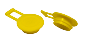 Caps with 1 pressure fin