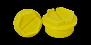 Threaded yellow sealing caps